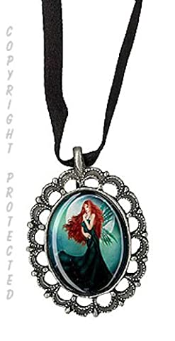 Pamela Delli Colli Fairy Wind Song Pewter Cameo Necklace Faery Wings - Cameo Garden