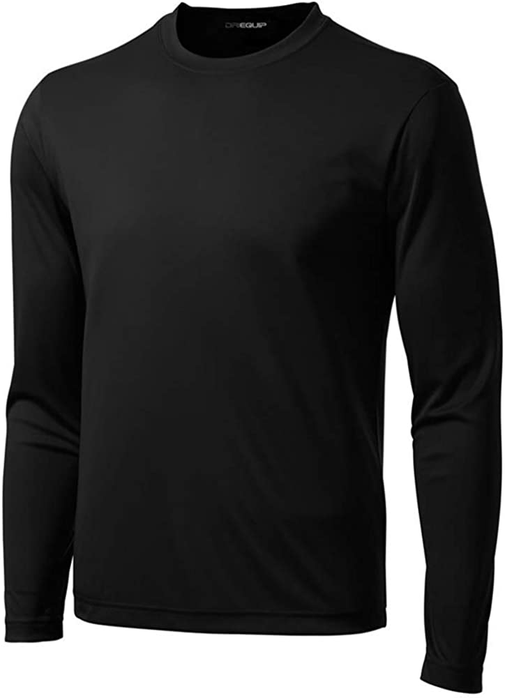 DRI-Equip Long Sleeve Moisture Wicking Athletic Shirts: Clothing