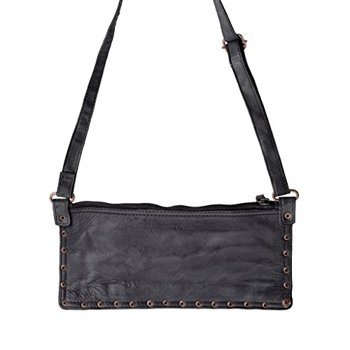 Shoulder And Strikeouts Women Shoulder Bag In Slate Leather Washed Bag Dudu Black 4wnAgUCq