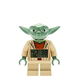 LEGO Star Wars 9003080 Yoda Kids Minifigure Light Up Alarm Clock | green/brown | plastic | 7 inches tall | LCD display | boy girl | official