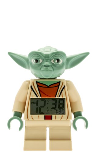 Clock Lego - LEGO Star Wars 9003080 Yoda Kids Minifigure Light Up Alarm Clock | green/brown | plastic | 7 inches tall | LCD display | boy girl | official
