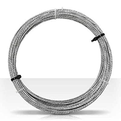 Guy Wire 100' FT 20 GA 6 Strand Galvanized Steel Antenna Master Mast Antenna Support Cable 20 Gauge Guy Wire Cable Support Off-Air Aerial Mast Pipe Roof Mount