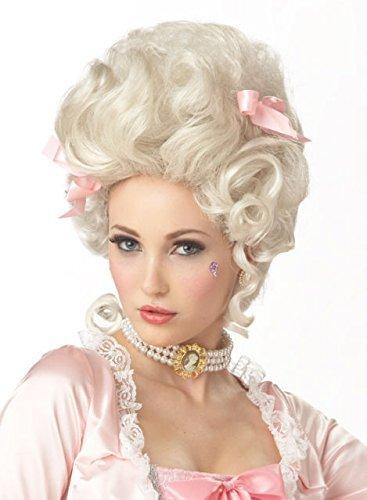 Deluxe Marie Antoinette Curls Wig French White Baroque Style Ladies Fancy Dress by Mega Fancy Dress (Marie Antionette Wigs)