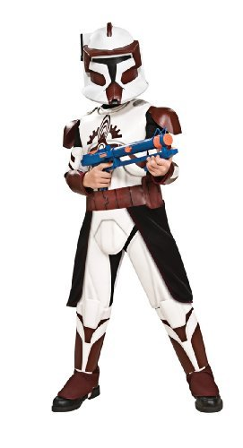 [Star Wars Clone Wars Clone Trooper Child's Deluxe Commander Fox Costume, Large by Rubie's] (Star Wars Commander Fox Costume)