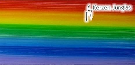Verzierwachsplatten Mix regenbogen // metallic zum Modellieren und Verzieren von Kerzen ca Pracht Creatives Hobby 7074-20515 200 x 50 x 0,5 mm und ein Wachsstreifen 3 halbe Wachsplatten