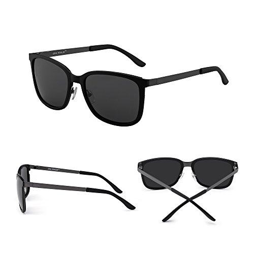 Gris Peso de Gradiente Anteojos Polarizadas Gafas Sol Mujer Polarizado Negro Ligero Vintage Hombre q76WaR