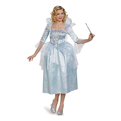 Disguise Women's Fairy Godmother Movie Adult Deluxe Costume, Blue, (Fairy Princess Costumes Adult)