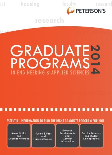 Graduate Programs in Engineering & Applied Sciences 2014 (Grad 5) (Peterson's Graduate Programs in Engineering & Applied Sciences (Book 5))