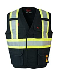 Fire Resistant (FR) Cotton Duck Hi Vis Safety Vest