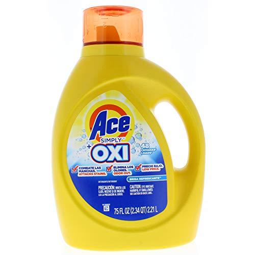Ace Liquid - Ace Simply Oxi Liquid Laundry Detergent, Refreshing Breeze 75 Fl. Oz 48 loads