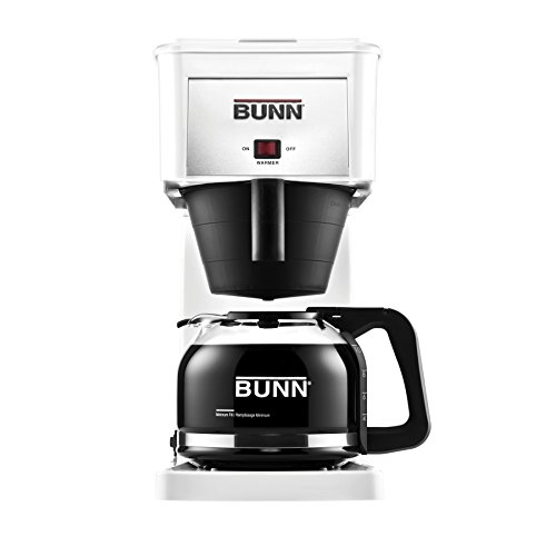 BUNN GRW Velocity Brew 10-Cup Home Coffee Brewer, White (Machines Extraction Water)