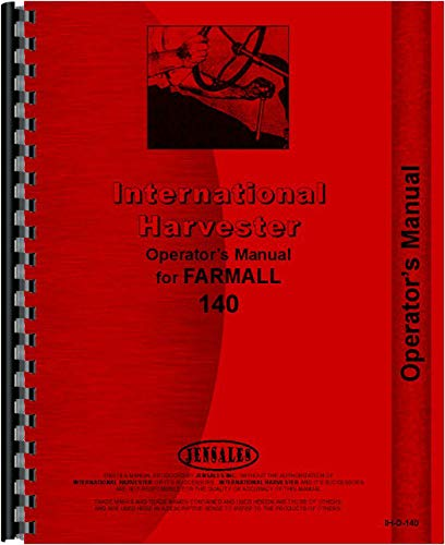 Farmall 140 Tractor Operators Manual (Agricultural) by Jensales