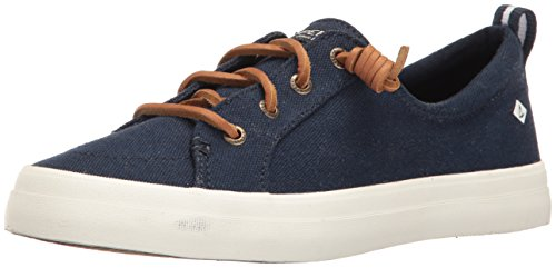 (Sperry Top-Sider Women's CREST VIBE LINEN Shoe, navy, 9 M US)