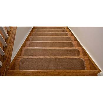 Amazon Com Berrnour Home Stair 7 Piece Treads Beige Skid