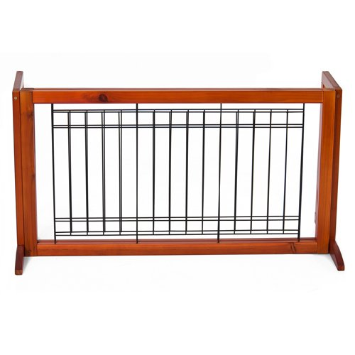 Choice Products Pet Fence Gate Free Standing Adjustable Dog Gate ...