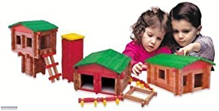 product image for Roy Toy Deluxe Set(250 Piece Deluxe Log Building Set)