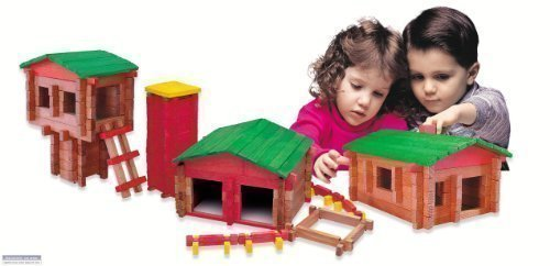 (Roy Toy Deluxe Set(250 Piece Deluxe Log Building)