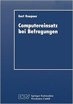 Computereinsatz bei Befragungen (DUV Wirtschaftswissenschaft)