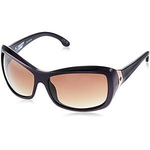 Spy Optic Women's Farrah 673011083355 Oval Sunglasses, Deep Purple & Happy Bronze Fade, 62 mm