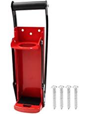16oz Aluminum Can Crusher & Bottle Opener, 2-in-1 Wall Mounted Metal Can Crushers Heavy Duty Can Crushers for Soda Beer Cans Smasher Eco-Friendly Recycling Tool(500ML, Red)