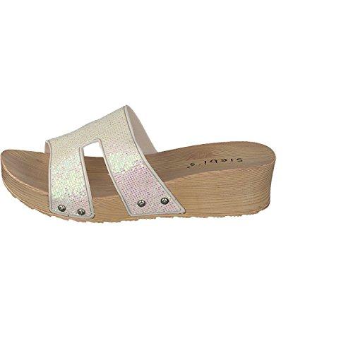 Blanco Siebi's Zapatillas Piscina Como Chanclas La Para Playa Mujer wxq8wSgrW