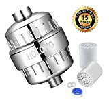 15-Stage Shower Filter with Replaceable Cartridge - Remove Chlorine, Heavy Metals, Softens Hard Water, Multi-stage Filtration, Tffectively Shield Impurities