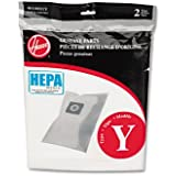HEPA Y Filtration Bags for Hoover Upright Cleaners, 2 Bags/Pack