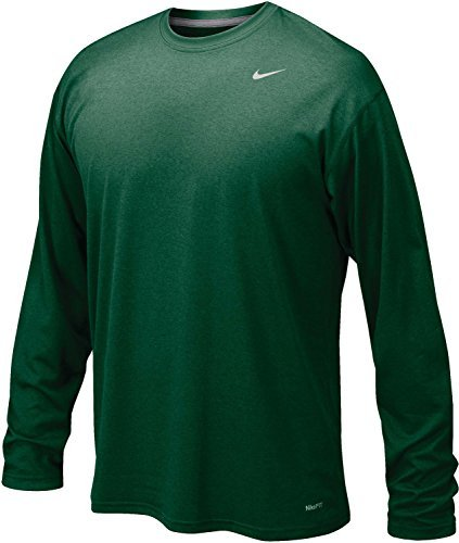 Nike Dk Green Legend Long Sleeve Performance Shirt, 2XL