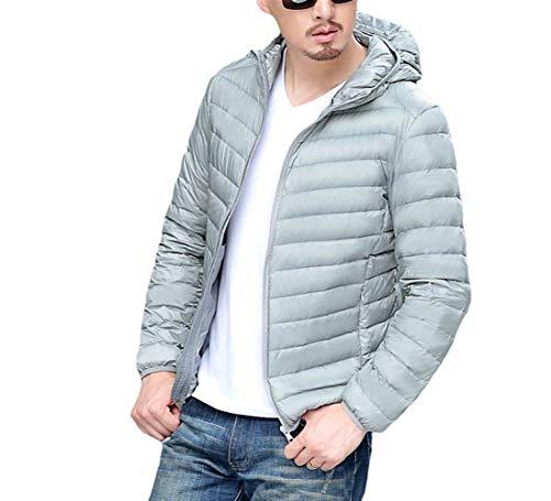Clásico Laisla Jackets Warm Coat Jacket Men's fashion Hood Lightweight Down Boy Slim Down Collar Ultra Winter Grau Quilted Stand Jacket Hooded 7S7rwq6z