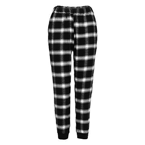 Amazon.com: Homeparty Unisex Fashion Lattice Leggings Casual ...