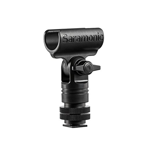Saramonic SR-SMC1 Shotgun Microphone Mounting Bracket Clip with Cold Shoe, 1/4