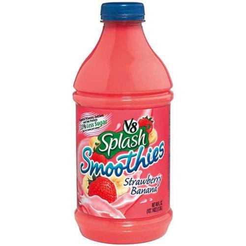 V8 Splash Strawberry and Banana Smoothie, 46 Fl Oz Bottles (Pack of 6)
