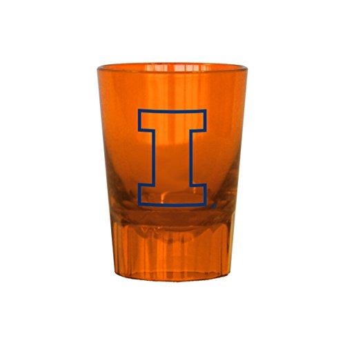Fighting Illinois Illini Glass (Boelter Brands NCAA Illinois Fighting Illini Plastic Shot Glass, 2-Ounce)