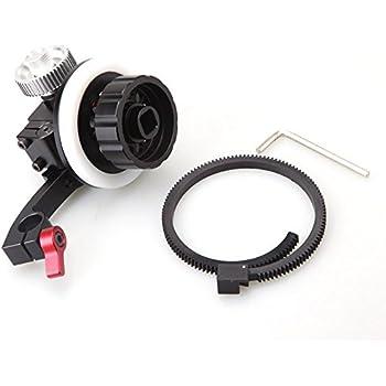 New Kamerar FF-3 Follow Focus w/15mm Quick Release Rods Clamp