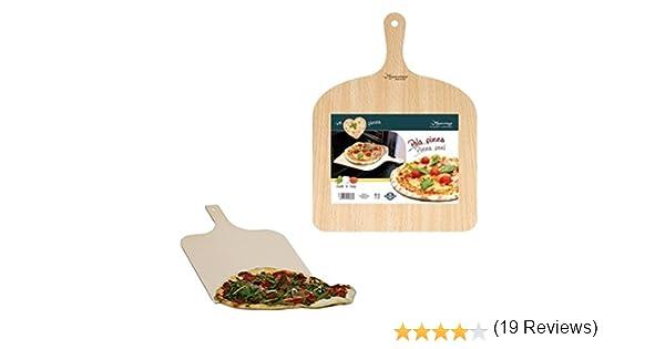 Compra Pala para pizza bandeja para pan queso tabla de madera de becerro en Amazon.es