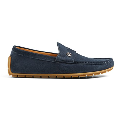 Gucci+Men%27s+Full+Bottom+Suede+Driver+Moccasin+Loafer+Shoes%2C+Blue%2C+6
