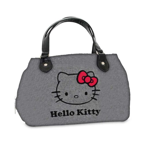 Sanrio Turnbeutel Hello Kitty Rot Bow Henkeltasche Grau HK.0205.00