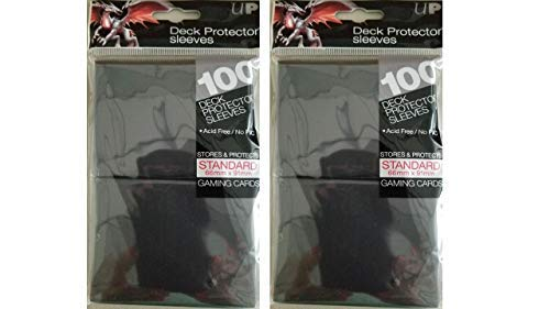 Ultra Pro Deck Protector Sleeves for Standard Size Cards | Black | 200-Count