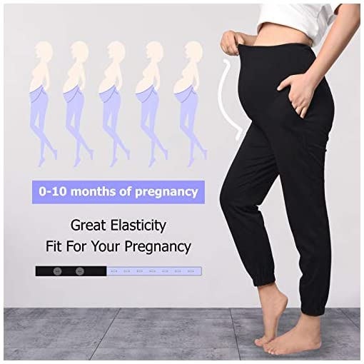 Lupantte-Maternity-Pants-for-Women-Everyday-Maternity-Joggers-Lounge-Pants-2Pack