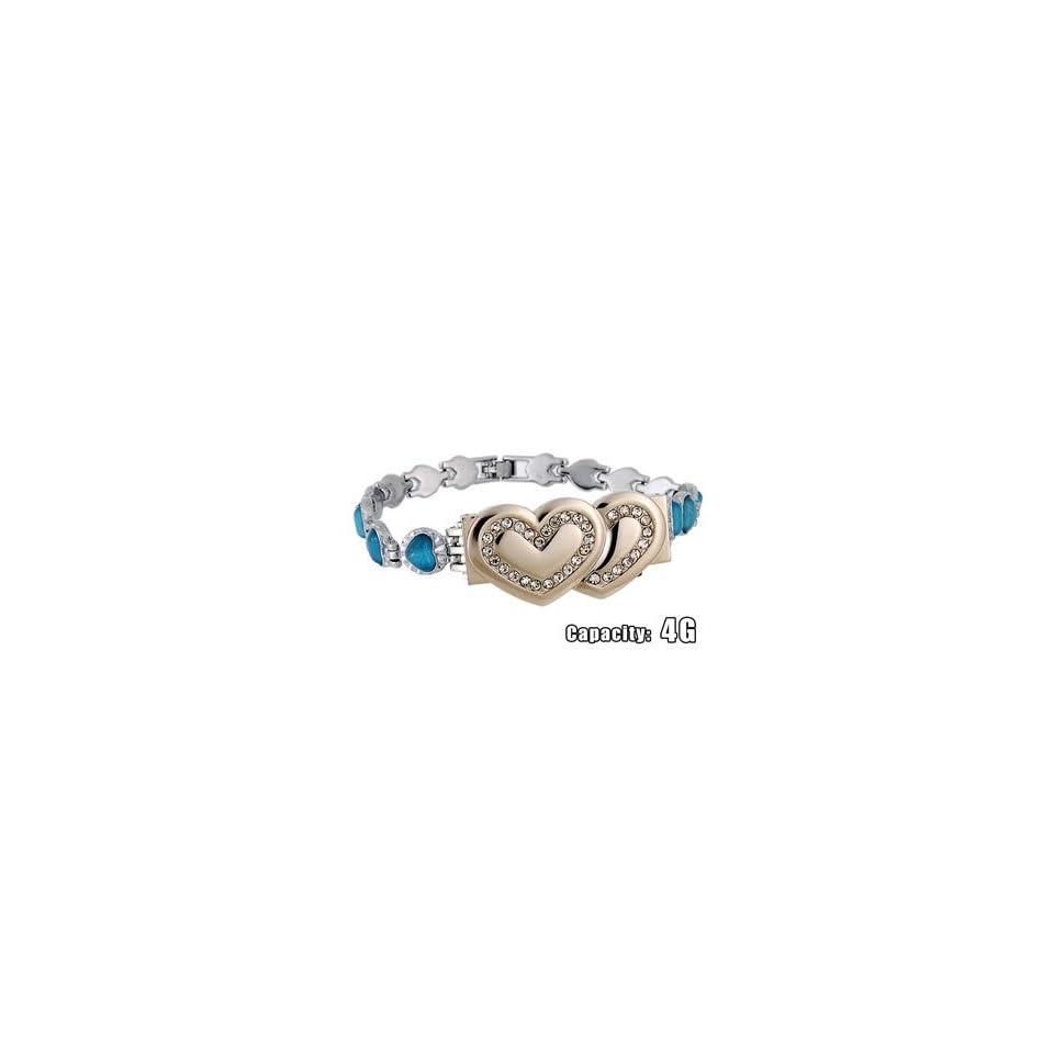 Bracelet Shaped 4GB USB Flash Drive (Blue)