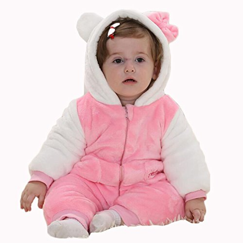 Aokaixin Infant Baby Toddler Hoodie Rompers Costumes Baby Suit (Height:26-28.7'', Hello (Hello Kitty Halloween Costume Infant)