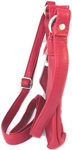 Les Trésors De Lily [P0438 - Sac cuir 'Les Grainés' rouge - 25x17x3 cm