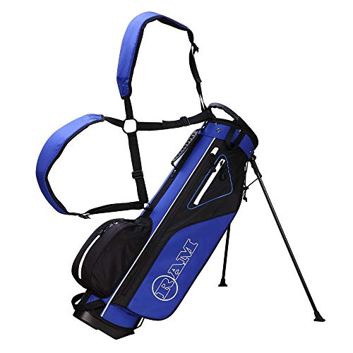 RAM Golf Lightweight Stand Carry/Sunday Bag Blue/Black