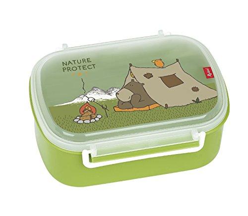 sigikid, Jungen, Brotdose mit buntem Bären-Druck, Brotzeitbox Forest Grizzly, Grün, 24780