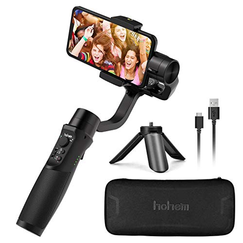 Hohem iSteady Mobile Plus, 3-Axis Handheld Gimbal Stabilizer for Smartphones, iPhone Smartphone Gimbal, for iPhone Xs Max Xr X 8 Plus Android Smartphones for Youtuber, Video Blogger [2019]