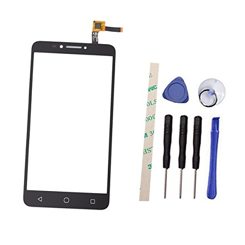 Digitizer Touch Screen Replacement for Alcatel Pixi Theatre 4G LTE 5098O 5098S 9001 6'' (Not LCD Display) with Adhesive (Black) ()