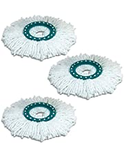 Gaetooely 360 Degree Rotating Cotton Mop Replacement Heads Mopping Head Cleaning Cloth for Leifheit Mop Spare Parts 3Pcs