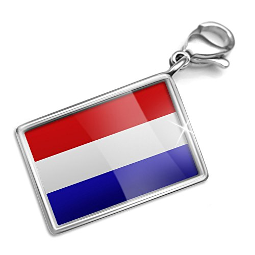 Neonblond The Netherlands Flag Charm Lobster Clasp Clip