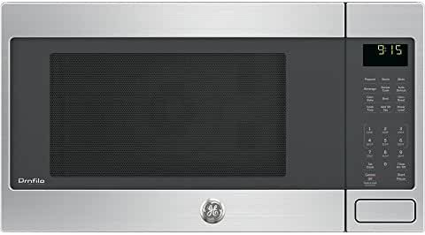 GE PEB9159SJSS Profile 1.5 Cu. Ft. Stainless Steel Countertop Microwave - Convection