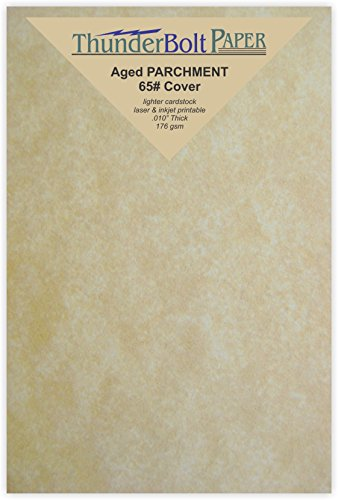 200 Old Age Parchment 65lb Cover Paper Sheets 4 X 6 Inches Cardstock Weight Colored Sheets 4